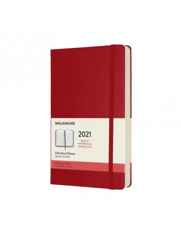 Agenda Moleskine 2020 Giornaliera 12 Mesi Large 13x21 - Copertina Rigida - Rosso