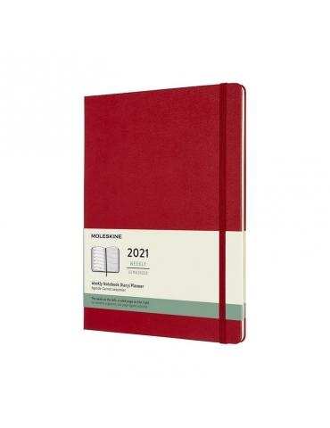 Agenda Moleskine 2021 Settimanale 12 Mesi Notebook XL 19x25 - Copertina Rigida - Rosso