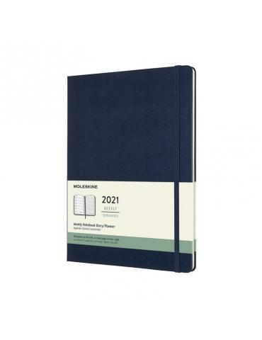 Agenda Moleskine 2021 Settimanale 12 Mesi Notebook XL 19x25 - Copertina Rigida - Blu