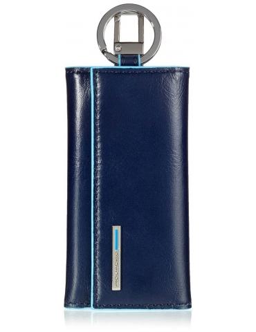 PIQUADRO Portachiavi per porta blindata con moschettone Blue Square