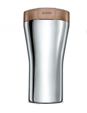 Travel mug in acciaio inossidabile e termoplastica Caffa - ALESSI