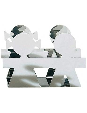 Portabuste in acciaio inossidabile Girotondo - ALESSI