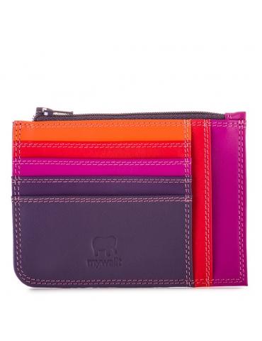 Porta carte di credito slim con portamonete MyWalit Sangria Multi