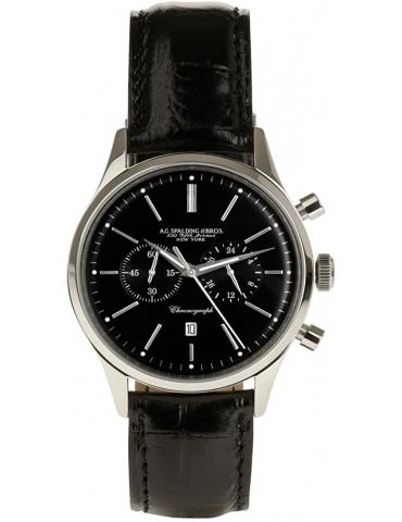 Orologio Cronografo Spalding & Bros St. Regis Nero