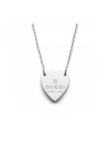 Collana Gucci in Argento Trademark con Cuore