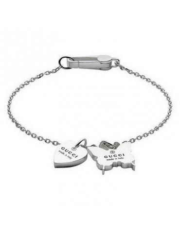 Bracciale da Donna Gucci in argento Trademark con Cuore e Farfalla