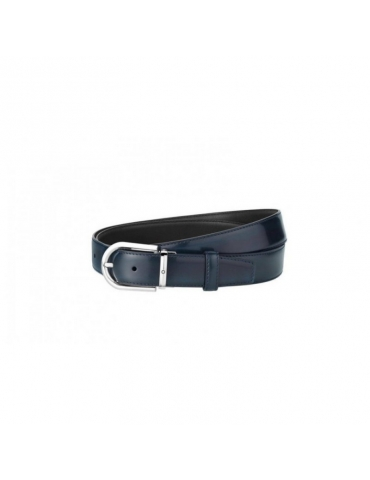 Cintura Montblanc da Uomo Regolabile Blu