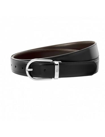 Cintura Montblanc Meisterstuck nera/marrone reversibile