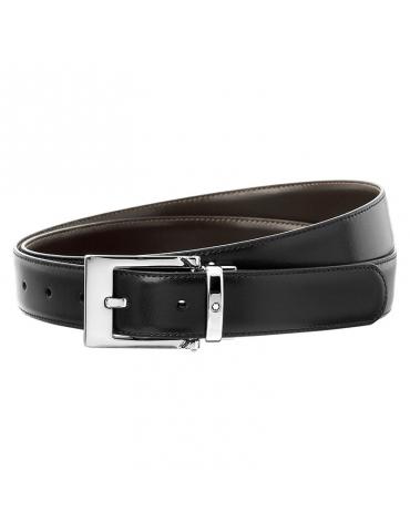 Cintura Montblanc da Uomo Reversibile Nera/Marrone