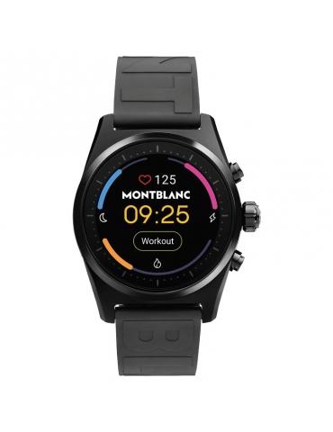 Smartwatch Montblanc Summit Lite in Alluminio nero e Cinturino in Caucciù