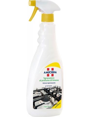 AMUCHINA Sgrassatore al Profumo di Limone Spray Professionale, Azione Igienizzante